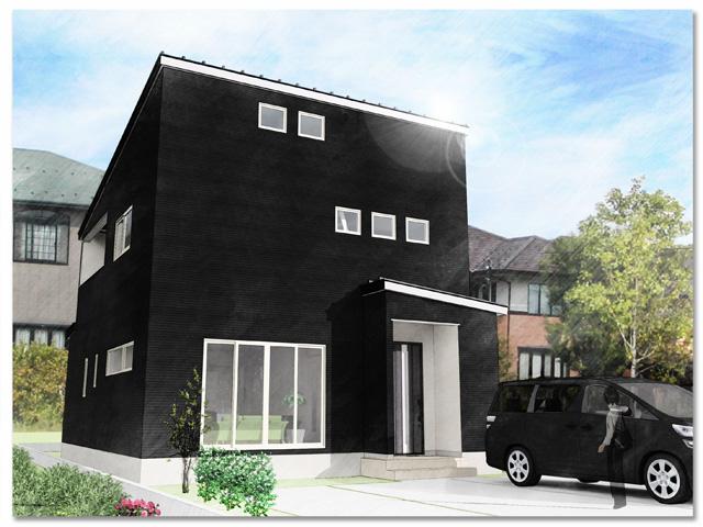 ハーバーハウスの新築 家づくり 事例シンプルブラックの家