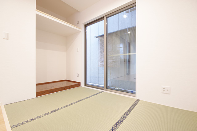 1階の両親の部屋には、今ある仏壇を置けるスペースを確保。