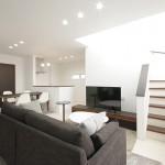 ハーバーハウスの施工事例 「二世帯が住まう家族の輪を大切にしたシンプルスタイリッシュな家」(MIRAI)