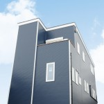新潟市中央区雪町「VISTA ブルーガルバリウムの3階建て都市型デザイン住宅」住宅完成見学会