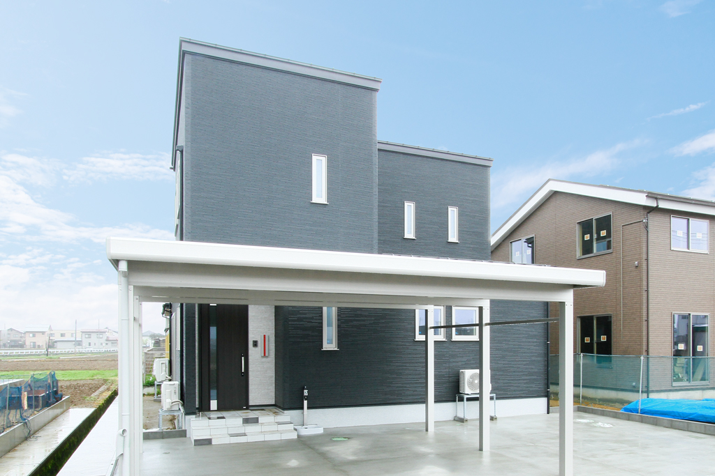 ハーバーハウスの新築 家づくり 事例「ペットスペースのあるモノトーンカラーの家」