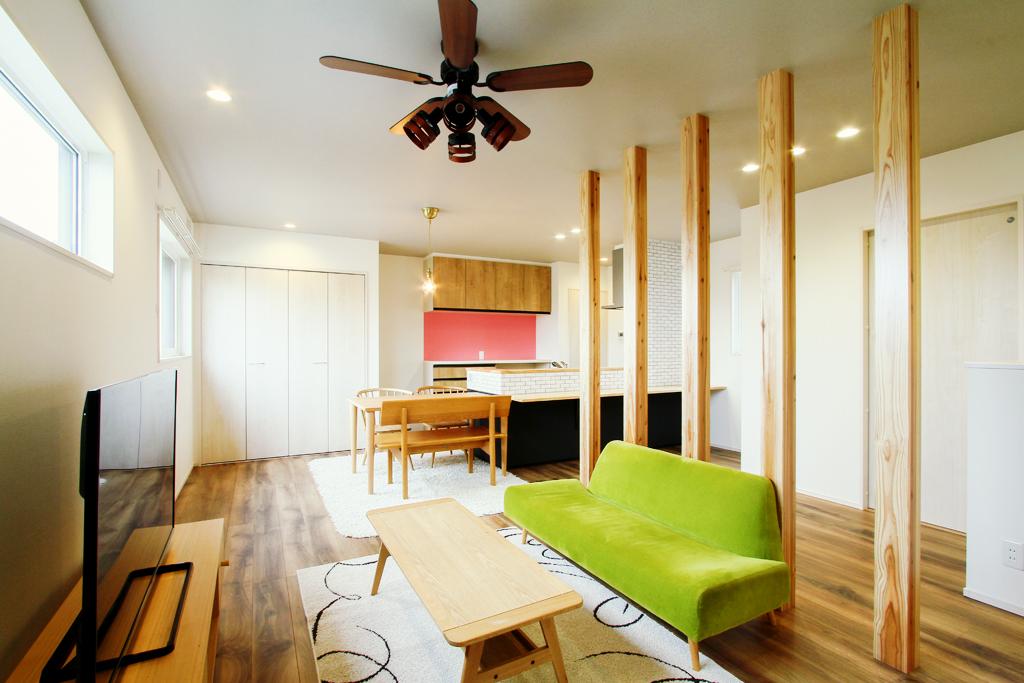 ハーバーハウスの新築 家づくり 事例「バイクガレージのある2階リビングの家」(IZU)