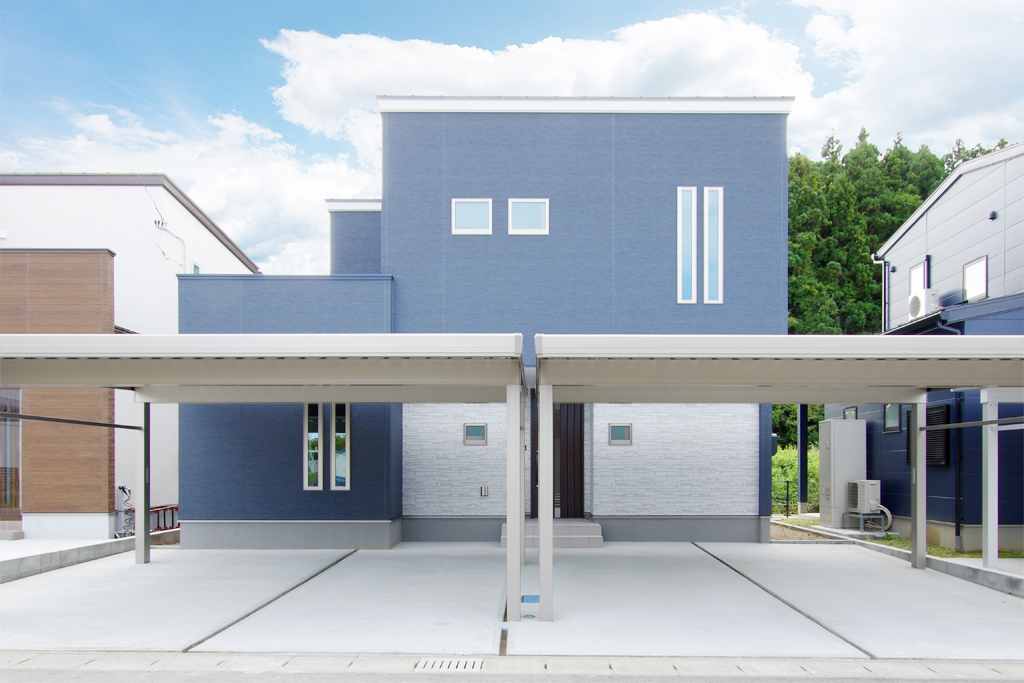 ハーバーハウスの新築 家づくり 事例「家事ラク動線のモダンハウス」