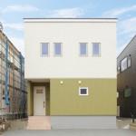 新潟市東区小金台「グリーン×ホワイトのバイカラーでデザインした外観の家」住宅完成見学会
