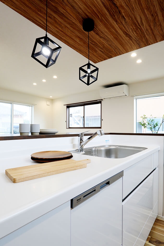ハーバーハウスの新築 家づくり 事例「部屋ごとのコーディネートが光る ナチュラルスタイルのキッチンのある家」