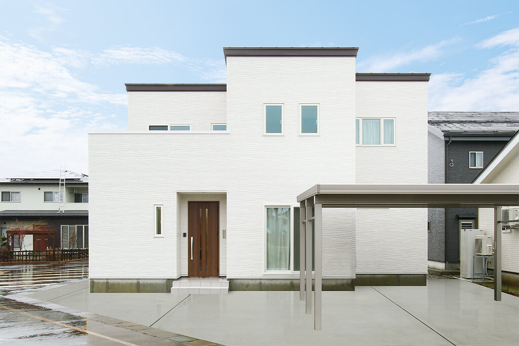 ハーバーハウスの新築 家づくり 事例「2.5帖の大きなパントリーのある家事ラク仕様な家」