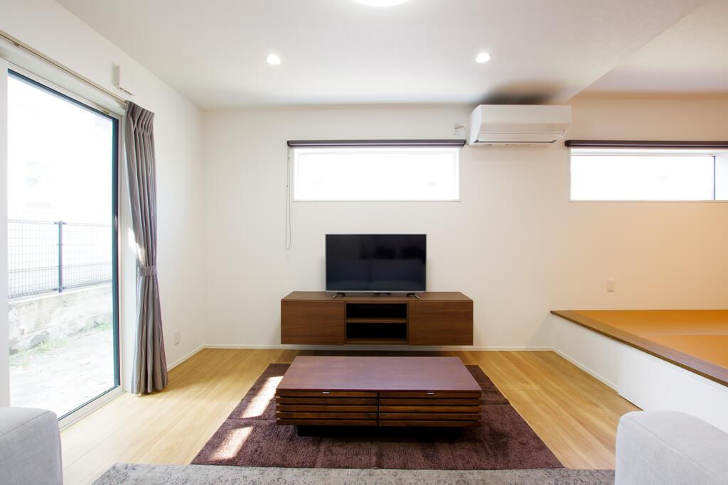 ハーバーハウスの新築 家づくり 事例「収納力抜群!造作TVボードのある家」(ECOLOGIA)