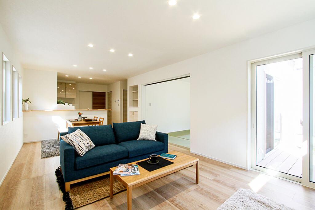 ハーバーハウスの新築 家づくり 事例「MIRAI 家族を守る耐震性能!ウッドデッキのある共有型二世帯住宅」