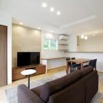 ハーバーハウスの施工事例 「折り上げ天井と造作TVボードで空間を演出した家」(IZU)