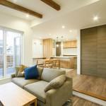 新潟市西区寺尾上「ペニンシュラキッチンと勾配天井で開放的なLDKの家」住宅完成見学会
