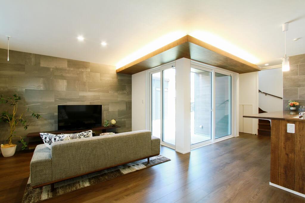 ハーバーハウスの新築 家づくり 事例「REVELTA 32.5帖の大空間LDK&スカイテラスのあるインナーガレージハウス」