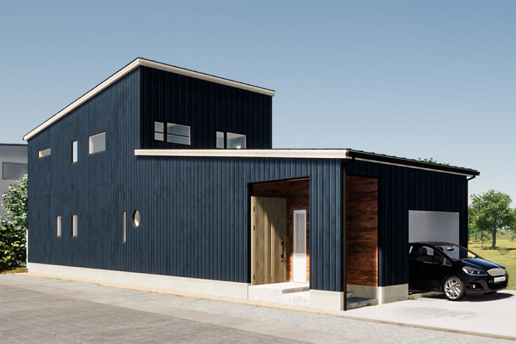 ハーバーハウスの新築 家づくり 事例「REVELTA 奥行きをフル活用したアイデア設計!細長い土地に建つモダンなインナーガレージハウス」