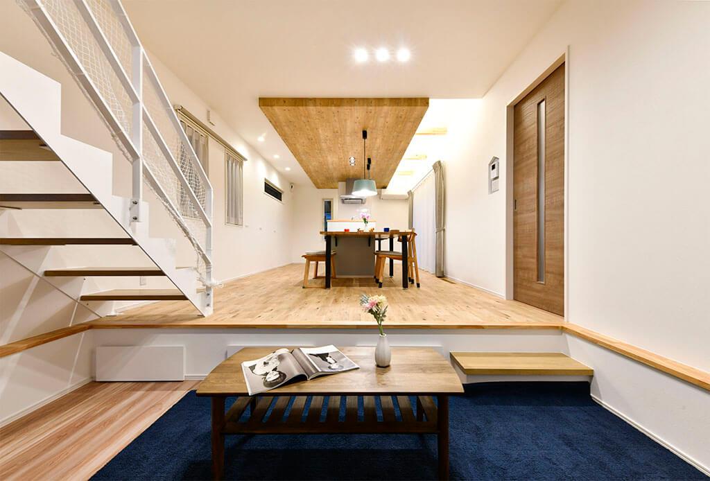 ハーバーハウスの新築 家づくり 事例「ORGA 特別なリビング空間!居心地のいいピットリビングのある家」