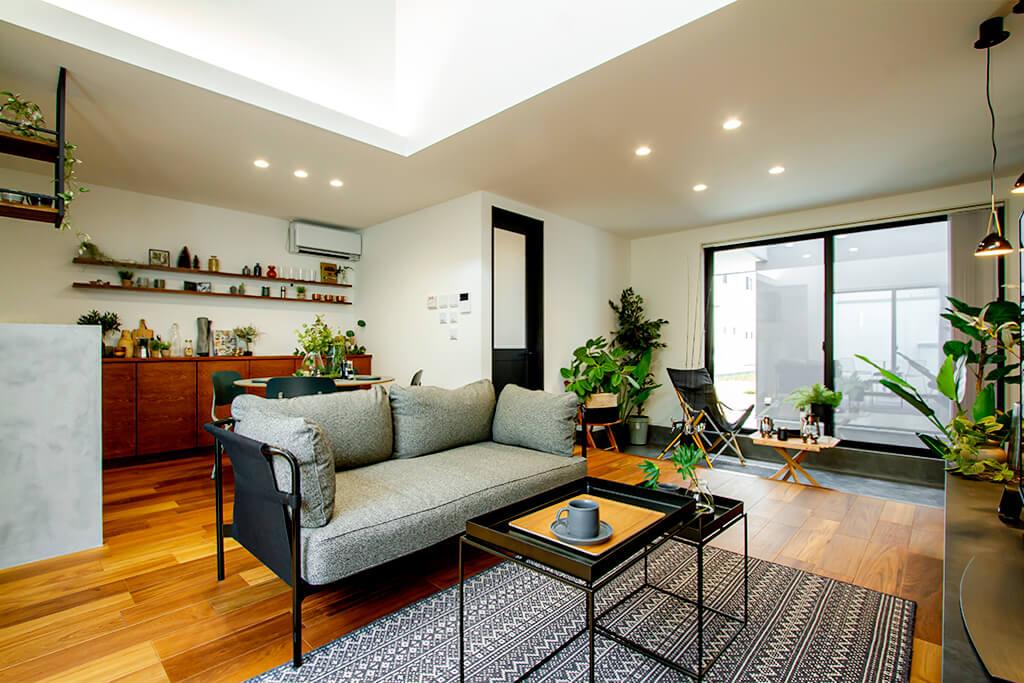 ハーバーハウスの新築 家づくり 事例「開放的な土間リビングで暮らしを愉しむアウトドアリゾート住宅」